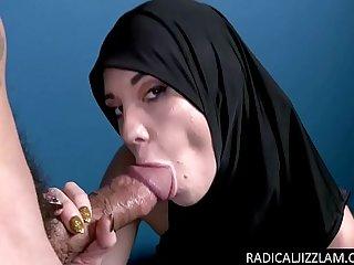 Arab refugee sucks a big cock for conversion