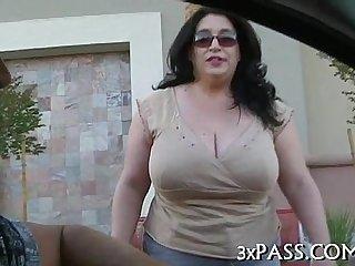 Hot big nice-looking woman