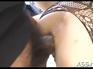 Oriental cum-hole and anal fuck