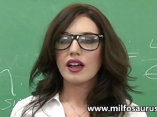 MILF professor fucks her students
