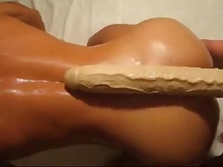 Pink Asshole with 30 Inch Long Monster Dildo - more videos on HOTVDOCAMS.com