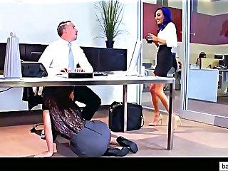 Lana Rhoades, Aidra Fox, Riley Reid & Janice Griffith Office Fuck